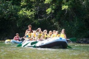 rafting avec des enfants