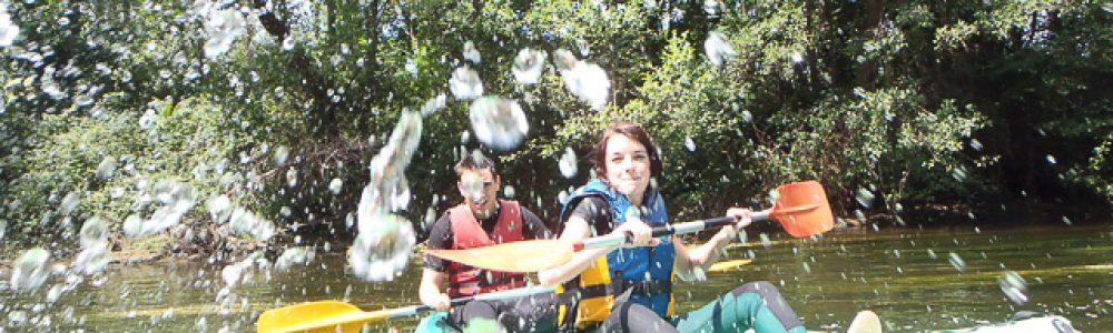 canoe éclaboussure