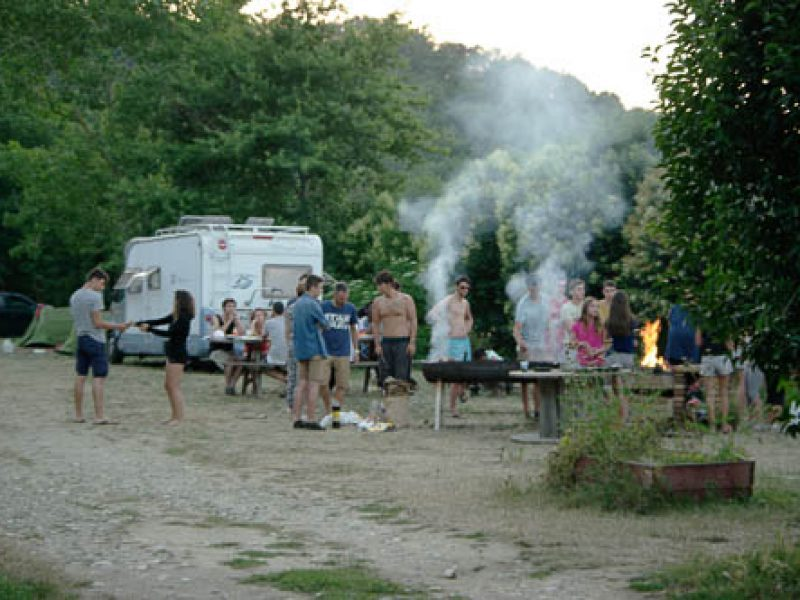 barbecue au camping