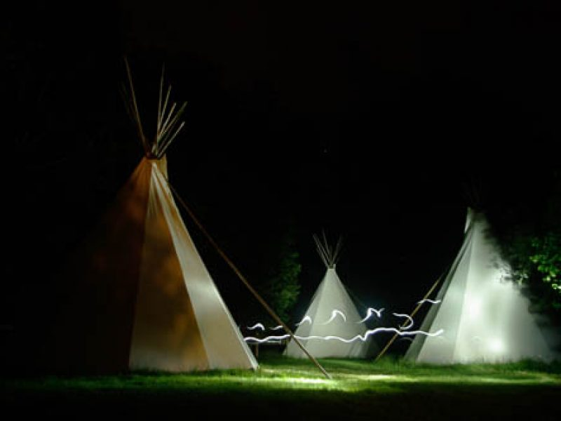 tipi et lightpainting